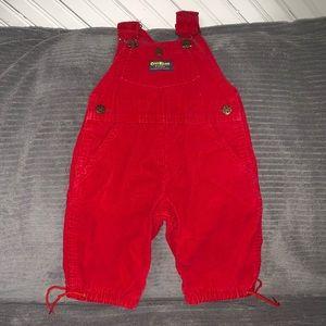 Vintage Corduroy Oshkosh B'Gosh Red Overalls